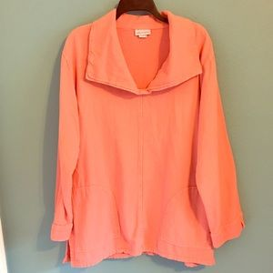 Soft Surroundings Coral Tunic Top #23914 Pullover